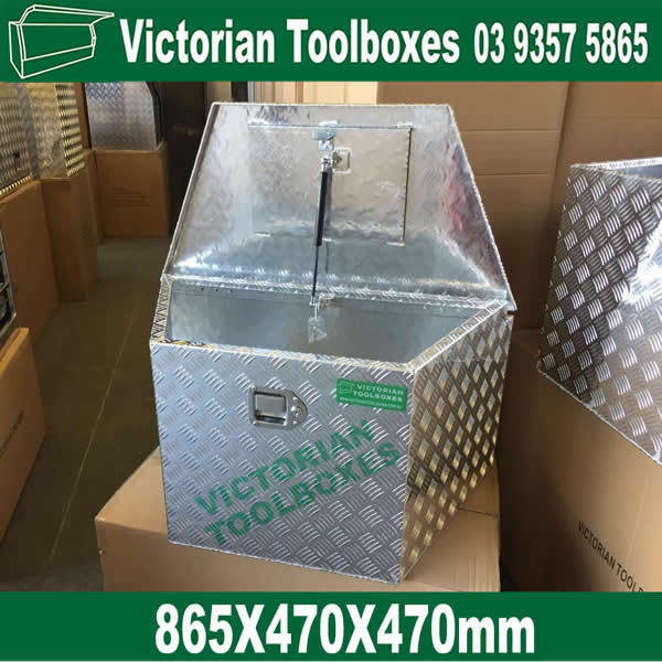 865 470 470mm Heavy Duty Draw Bar Aluminium Tool Boxes Trailer Truck