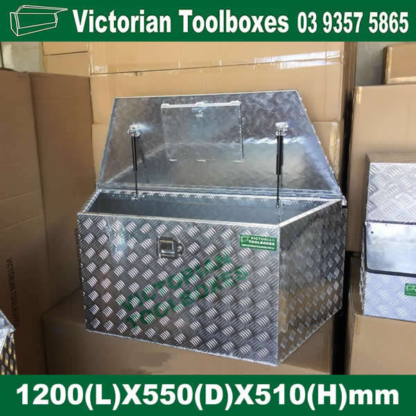 1200 550 510mm Heavy Duty Draw Bar Aluminium Tool Boxes Trailer